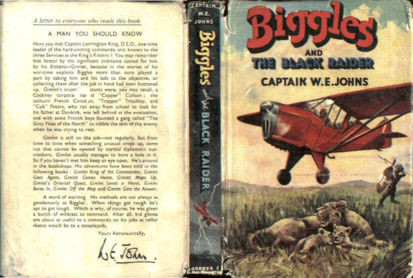 Biggles and the Black Raider - Dustjacket of 44-01