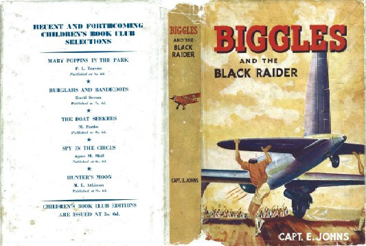 Biggles and the Black Raider - Dustjacket of 44-02