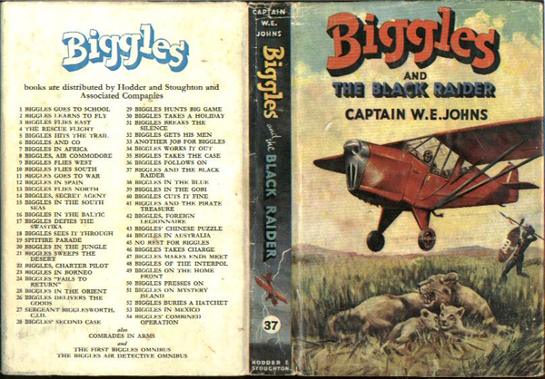 Biggles and the Black Raider - Dustjacket of 44-03