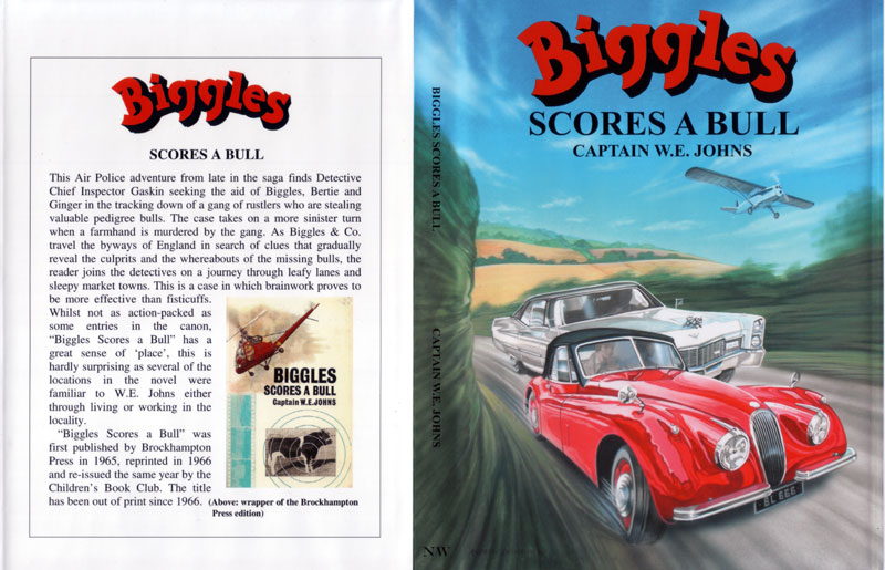 Biggles Scores a Bull - Dustjacket of 85-05